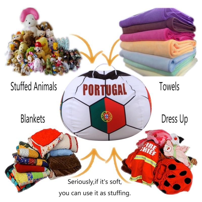 Kids Toys Storage Bag Organizer Cotton Canvas Stuffed Animal Plush Toy Storage Bean Bag