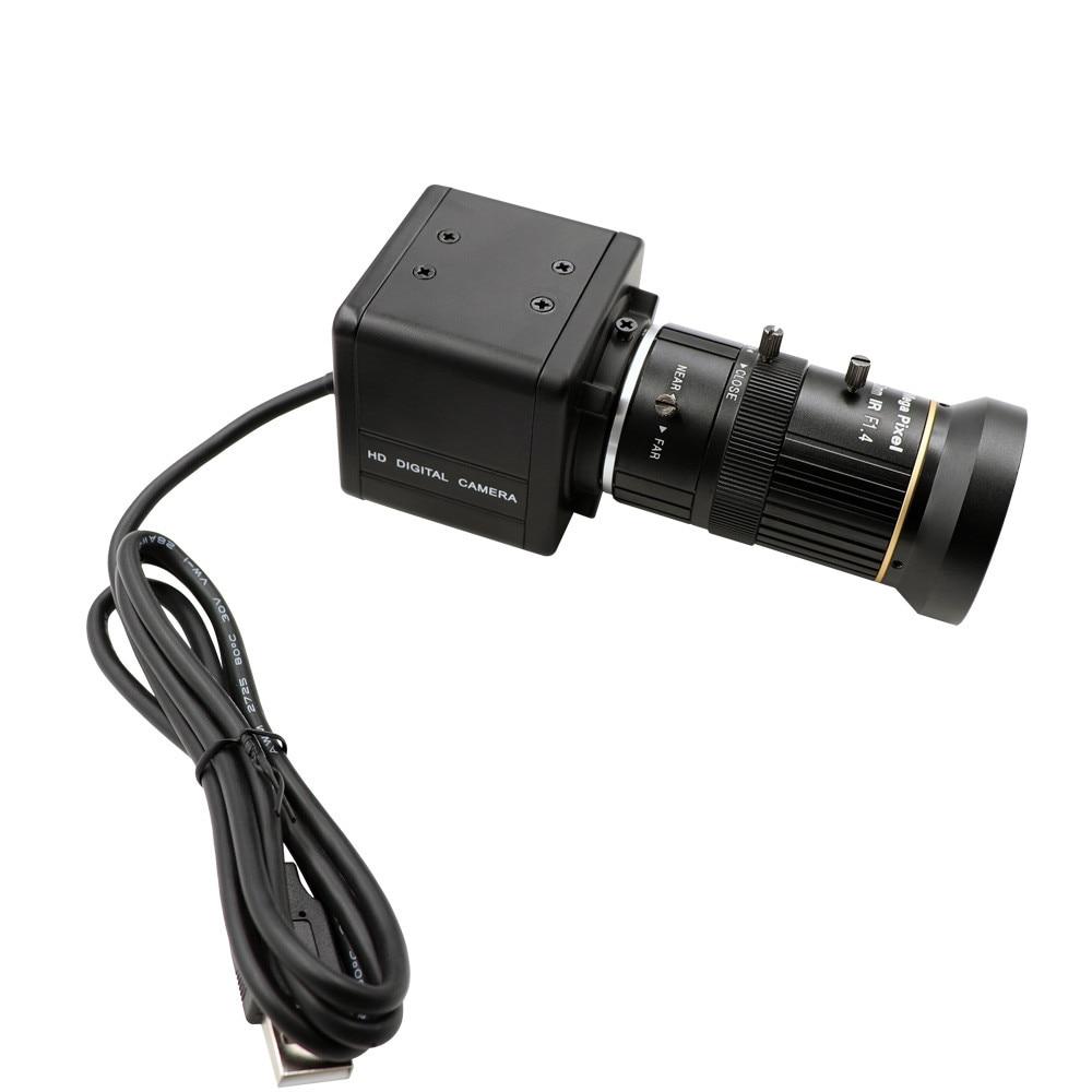 Global Shutter 120fps 720P Monochrome Black White CS Mount Varifocal 5 50mm Webcam UVC Plug Play