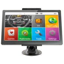 KMDRIVE 7 인치 자동차 트럭 GPS 네비게이션 256M RAM 8gb 지원 러시아/EU/N 및 남미/아시아/아프리카/AU nz지도