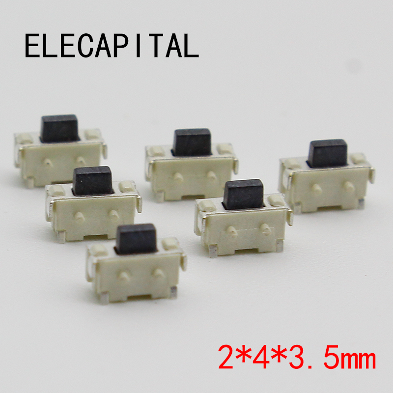 Free Shipping 50PCS SMT 2X4X3.5MM Tactile Tact Push Button Micro Switch Momentary