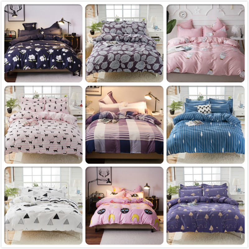 3pcs 4pcs Bedding Set Kids Child Soft Cotton Bed Linen Single Twin Full Queen King Size Duvet Cover 1.5m 1.8m 2m 2.2m Bedclothes