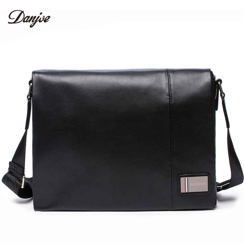 DANJUE Genuine Leather Men Business Bag High Quality Casual Shoulder Bags Male Brand Trendy Messenger Bag Man Leisure Daily Bag