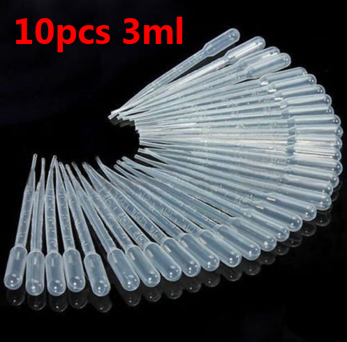 10Pcs 3ML Plastic Resin Jewelry Tools Disposable Transfer Pipettes Clear For Silicone Mold UV Epoxy Resin Craft Jewelry Making