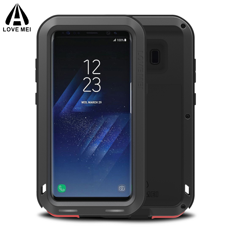 Pour Samsung Galaxy S8 + Cas AMOUR MEI Puissant De Luxe Doom métal Armure antichoc En Aluminium Coque Pour Galaxy S8 S8 Plus