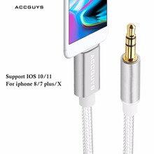 ACCGUYS Lighting Cable to 3 5mm jack Audio Cable Car AUX Cord For iPhone 7 7Plus