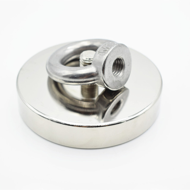 D90mm strong powerful round neodymium Magnet hook salvage Fishing magnet 300kg sea equipment