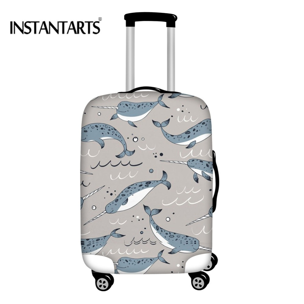 Luggage & Bags Instantarts Travel Luggage Pattern Cover For Traveling Narwhal Lovers Protective 18-30 Inches Elastic Dust Suitcase Case Covers Various Styles