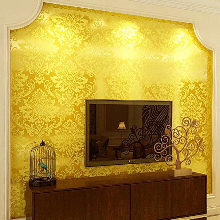 Papier peint 3D paillettes de luxe européen papier peint noir fleur Dumask vidéo KTV hôtel papier peint papier peint feuille d'or pailleté
