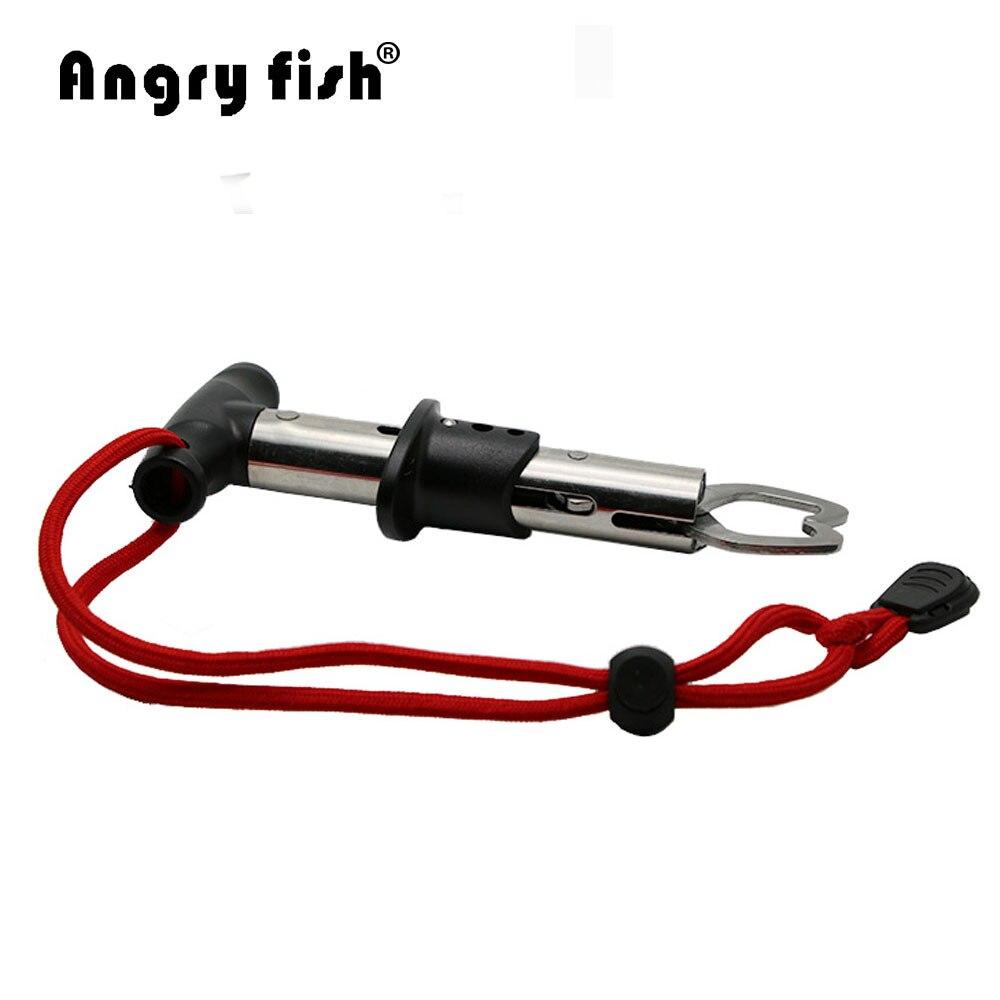 Angrufish K2 Portatile di Alluminio del Metallo Pesce Pesce Grip Holder Cattura E Rilasciare Resistente Lucchetto Accessori Pesce Grip