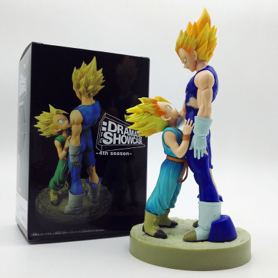 21cm Dragon Ball Z Figure Dramatic Showcase 4th season Super Saiyan Vegeta Trunks PVC Ac ...