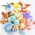 New Arrival 12-18 Pokedoll Plush Lovely Charmander Squirtle Bulbasaur Clefairy Ditto Gengar Poliwag Vaporeon Stuffed Plush Toys