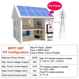 Image 5 - 태양 광 인버터 4000W 5Kva 80A MPPT 병렬 인버터 24V 220V 순수 사인파 인버터 충전기 60A 배터리 충전기