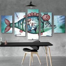Full Drill 5D DIY Diamond Painting Abstract Fish house Multi-pictures Cross Stitch Mosaic Diamond Painting Living room decor(China)