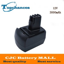 Newest Replacement Ni Mh 12V 3000mAh Power Tool Batteries for METABO 6 25473 ULA9 6 18