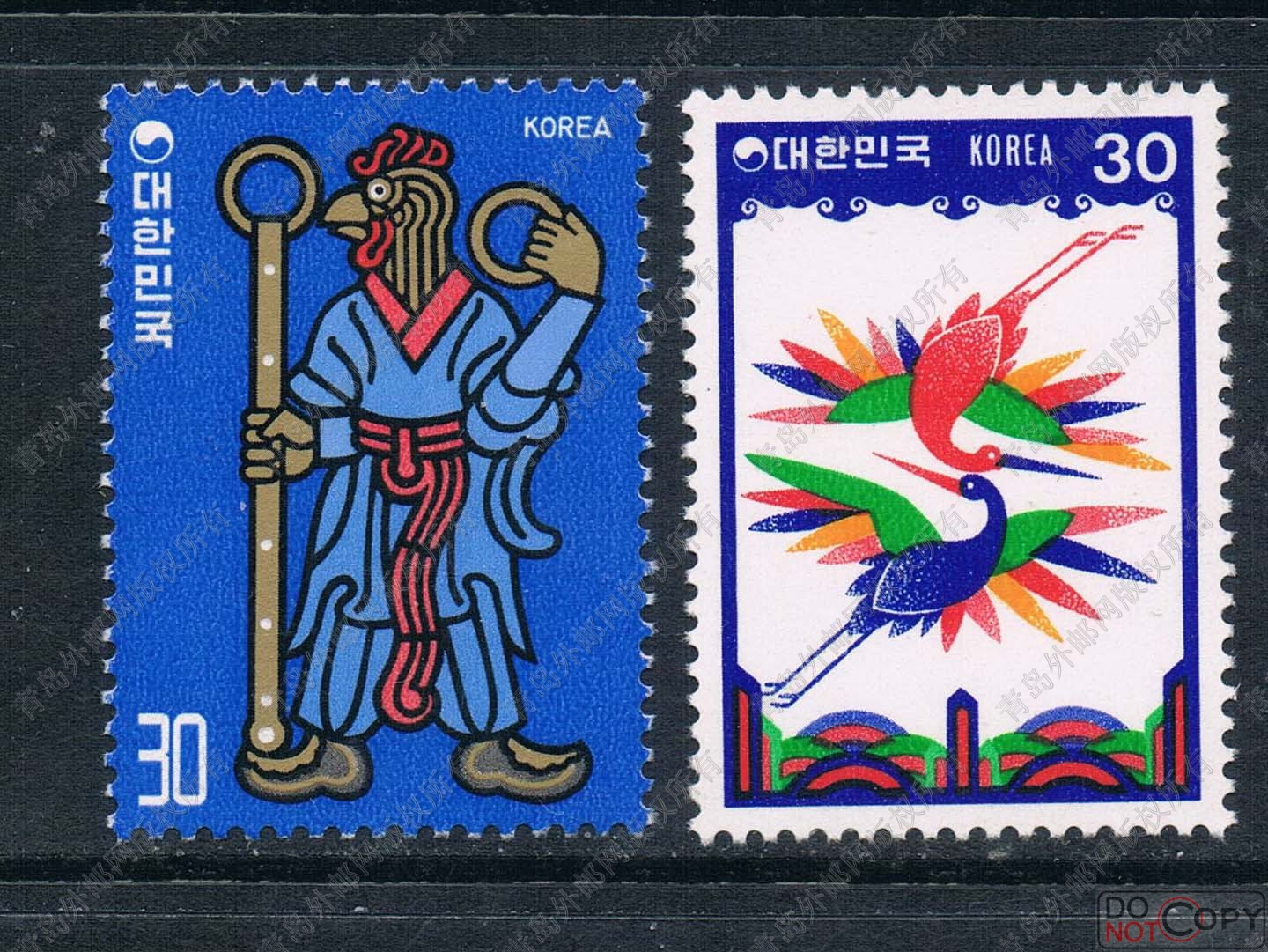 KR0757 South Korea 1980 Zodiac chicken stamps 2 new 0209 робот zodiac ov3400