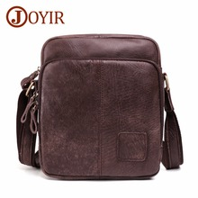 JOYIR Genuine Cow Leather Messenger Bags Vintage Flap Casual Men Solid Handbags Famous Brand Small Male Shoulder Crossbody Bags