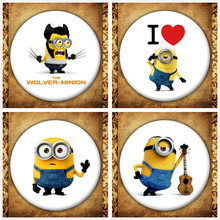 Anime Movie Despicable Me Display Badge Fashion Cartoon Minions Figure Brooches Pin Jewelry Accessories Bag Decoration стоимость