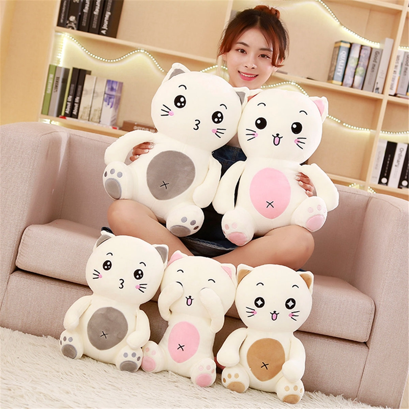 Learned 1pc 35/45cm Nifty Cat Plush Toys Soft Stuffed Cartoon Animal Cat Doll Sofa Pillow Cushion Girls Birthday/valentine Gifts Kids 2019 New Fashion Style Online Dolls & Stuffed Toys Stuffed & Plush Animals