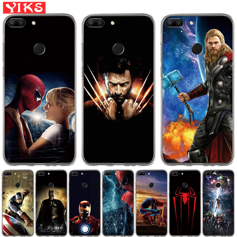 Luxury Marvel Heros Soft Silicone Phone Case For Huawei Honor 10 9 8 Lite 8X 7 7A 7X 7C 6A 6X Case The Avengers Cover Hoesjes чехлы марвел