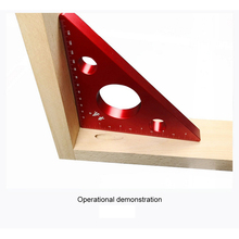 Woodworking Ruler Square Triangle Ruler for Speed Square Triangle Angle Protractor Laser engraving Carpenter Measuring Tools 7inch silver aluminum alloy speed square roofing triangle angle protractor carpenter s measuring layout tool measuring ruler
