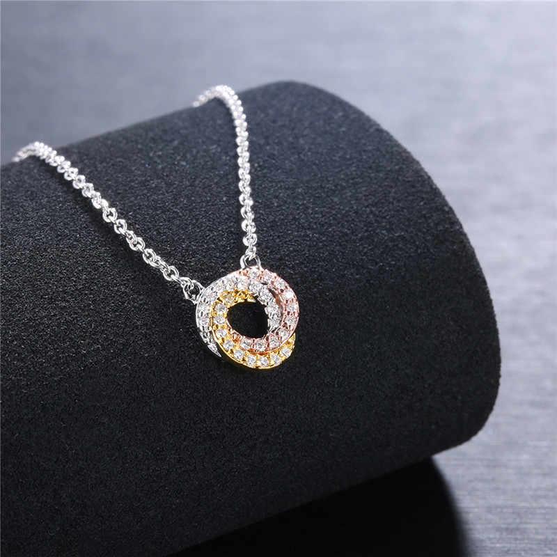 Wisiorki ze stali nierdzewnej naszyjniki dla kobiet 2018 nowy długie naszyjniki urok panie mężczyźni chłopiec choker łańcuszek biżuteria prezenty Collares R5