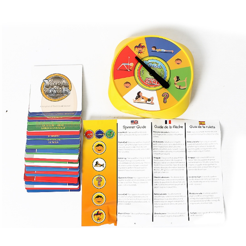 Yoga Spinner Party Game With 54PCS Yoga Pose Cards for Kids Award Winning Game for Yoga Loving Parents and their Kids,2+player