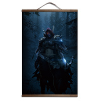 HD Canvas Poster Decoration Painting For World Of Warcraft Sylvanas Windrunner With Solid Wood Hanging Scroll