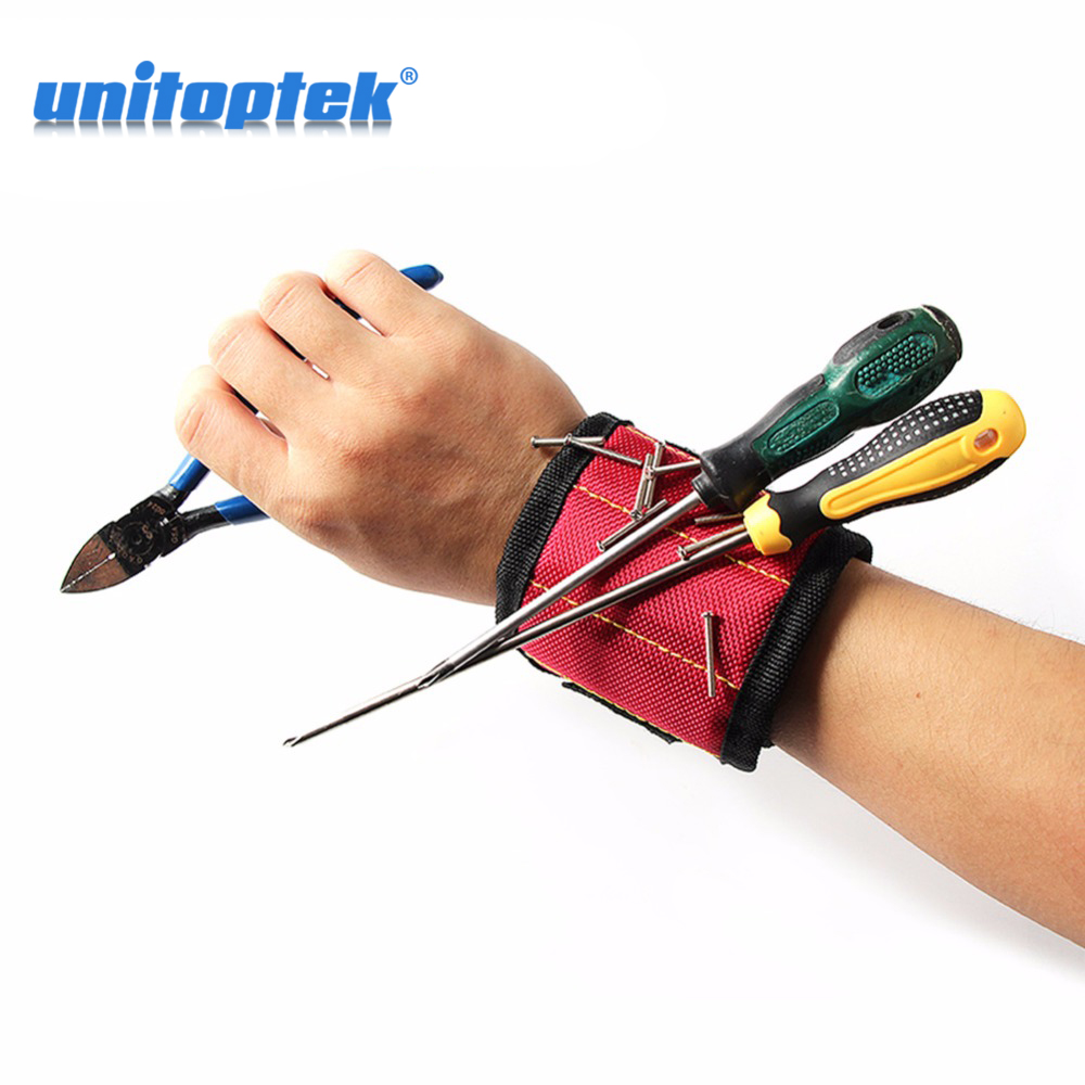 3 Color Magnetic Wristband Pocket Tool Belt Pouch Bag Screws Holder Holding Tools Practical Strong Chuck Wrist Toolkit