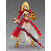 цена 2018 Fate/EXTELLA figma 370 Nero Claudius Red Saber PVC Action Figure Collectible Model Toy онлайн в 2017 году