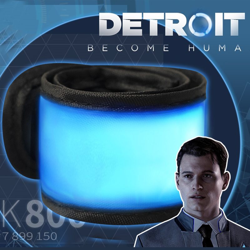 Detroit: Become Human Cosplay Connor LED Light Luminous Armband Armlet Props RK800 Accessories Fans Gift