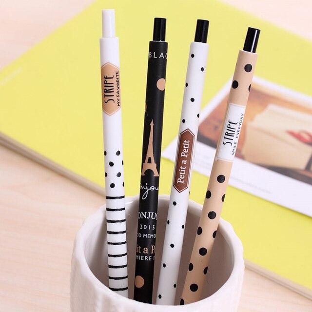 4 pcs Novo 0.5mm Bonito Kawaii Plástico Torre Caneta Automática Lapiseira Adorável Dots Para Crianças Coreano Papelaria Livre grátis