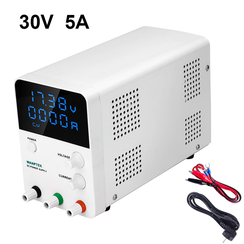 4-Digits 30V 5A LED Display Adjustable Switching Regulator <font><b>DC</b></font> Power <font><b>Supply</b></font> <font><b>30</b></font> <font><b>V</b></font> Laptop Repair Rework 110v - 220v Factory Tools image