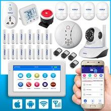 7 Дюймов TFT Цветной Дисплей WIFI GSM Сигнализация Двери/окна Датчика Охранной Сигнализации Умный Дом + wifi ip камера + детектор Дыма