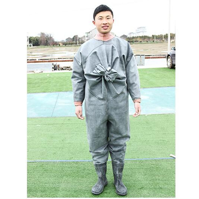 High-Jump Thickness 1MM Rubber Fly Fishing Waders Breathable One-Piece Waterproof Fishing Clothing for Hunting Fishing Overalls mens winter sea fishing clothes one piece suit floating life saving fishing clothing ykk zipper lifesaving whistle fly fishing