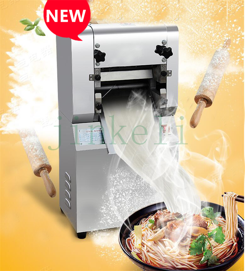 free ship Electric noodles making pressing machine pasta maker noodle cutting machine dough roller Spaghetti Pasta Fettuccine free shipping electric table type noodles cooking machine with ce pasta cooker