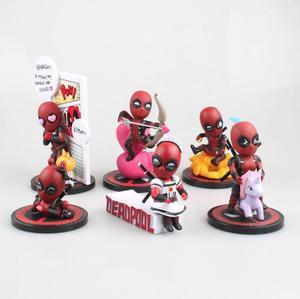 Grappige Marvel Deadpool Leuke Editie Cupido Eenhoorn Maid Dagdroom Figuur Model Speelgoed voor Kinderen 9 cm(China)