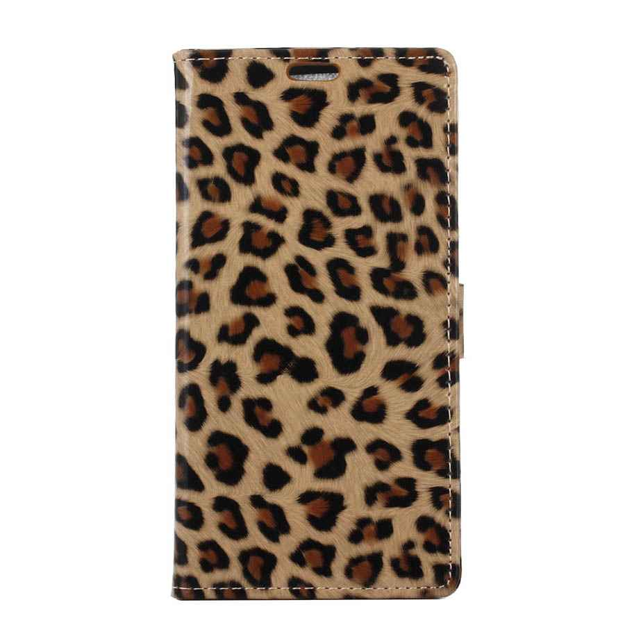 Cuero del leopardo case para zenfone 3 max zc520tl correa del teléfono a mano ac