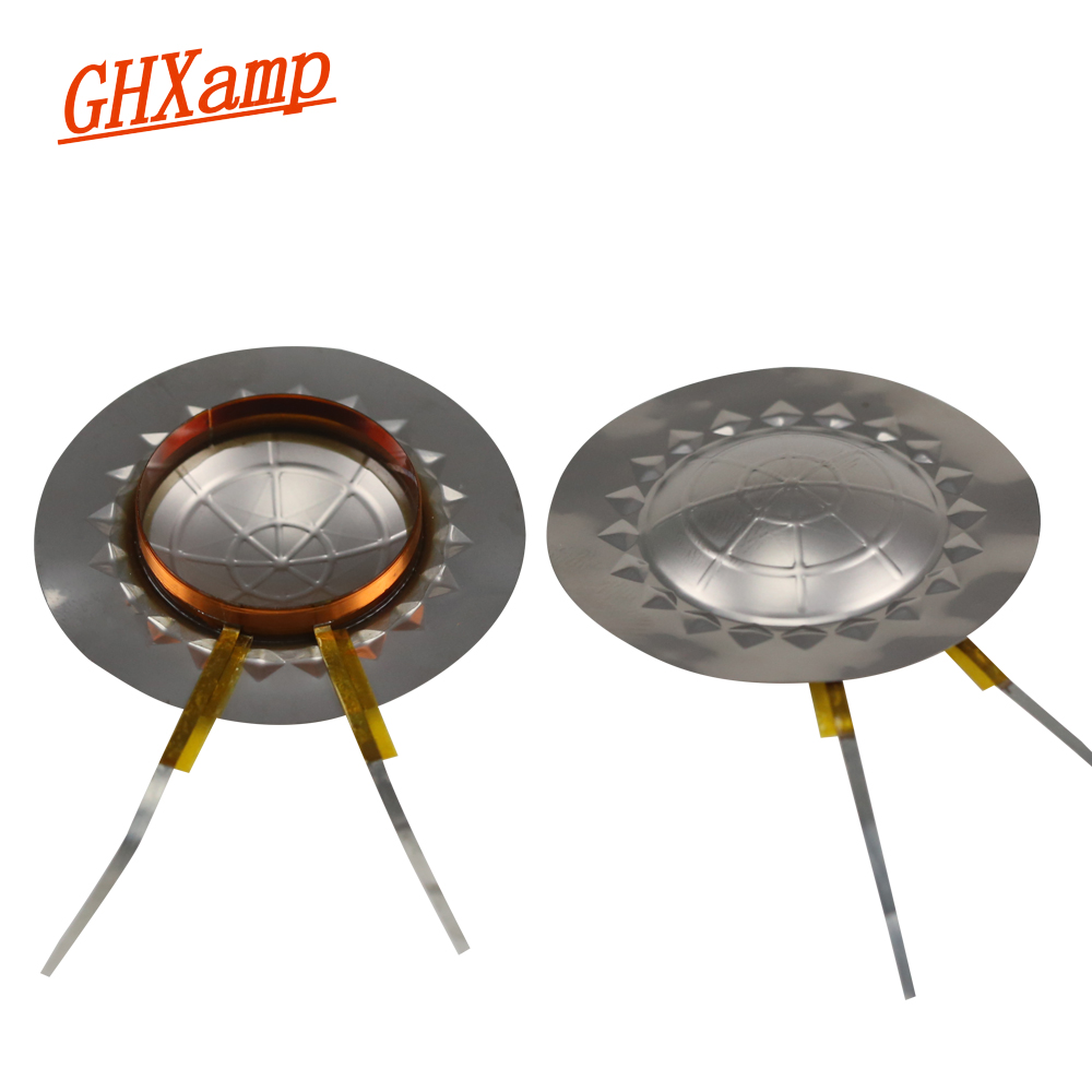 GHXAMP 24.8mm Tweeters Voice Coil Imported Titanium Diaphragm Flat Wires 25 Core Copper Round Coil Treble Repair 8OHM DIY 2PCS