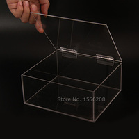 Transparent Acrylic Storage Box Makeup Organizer Table Jewelry Cosmetic Hinged Box Home Sundries Storage Holders