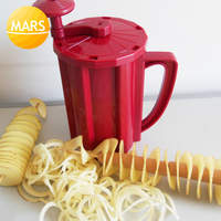 Manual Twisted Potato Slicer Curly Fries Twister Hot Dog Spiral Potato Cutter 3
