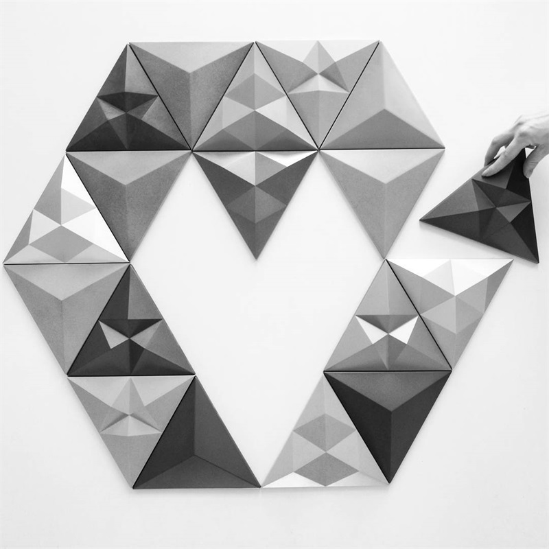 3D Cement tiles silicone molds concrete brick wall molds