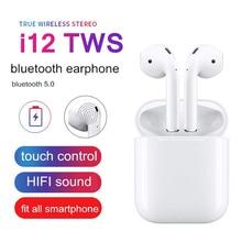 LONTENFY I12 TWS беспроводные Bluetooth наушники 5,0 с беспроводным микрофоном Bluetooth наушники для всех смартфонов гарнитура