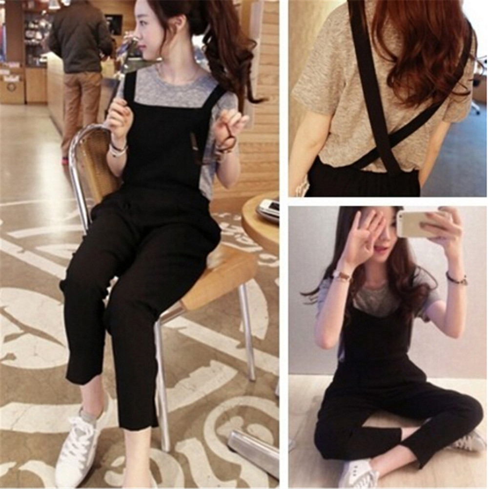 New Cotton Jumpsuit Strap Harem Trousers Overalls Overalls Loose Harem Pants Trousers Womens Casual Loose Linen Pants