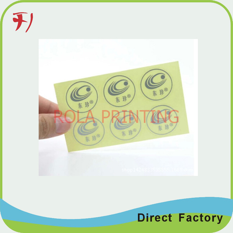 Customized clear PET adhesive label sticker for CE electronic tag