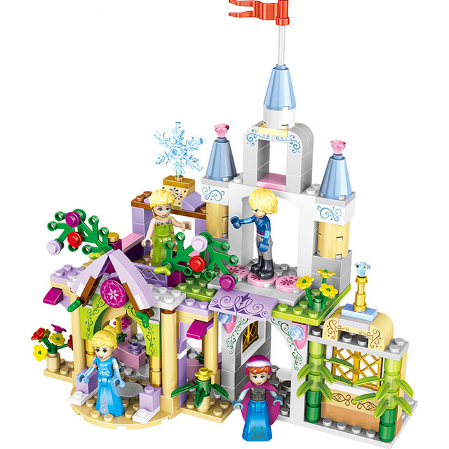 mylb 4 Style 4 in1 Princess Castle Building Blocks Sets DIY Bricks Birthday Gifts Toys For Girls Compatible With Legoe Friends 8 in 1 military ship building blocks toys for boys