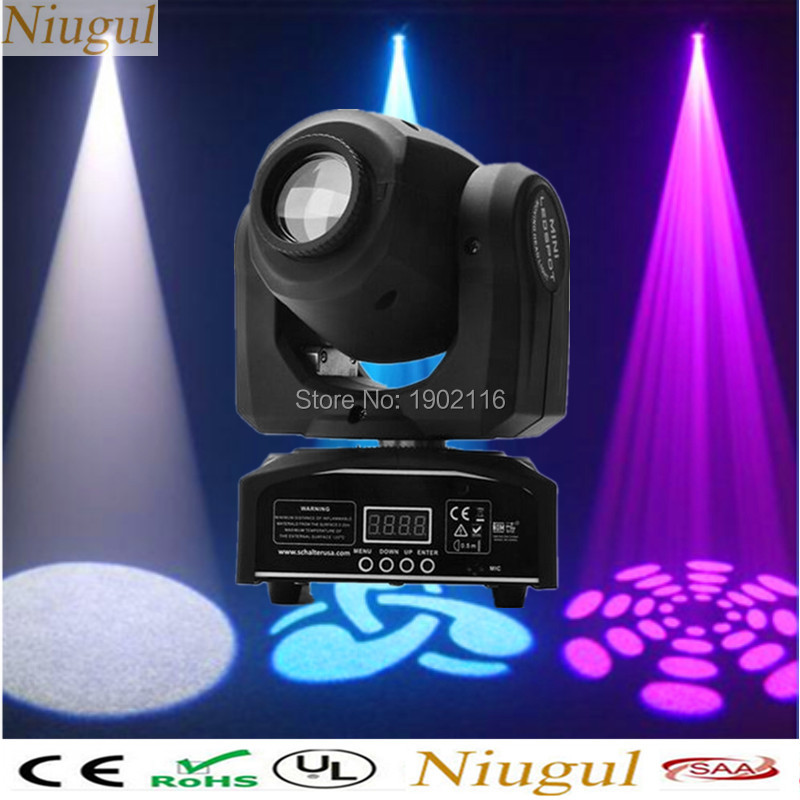 Factory cheap price Party disco dj stage light 30w dmx mini gobo projector spot led moving head for wedding Christmas decoration high quality mini 10w led spot moving head 7 gobo stage light disco dj dmx512 rgbw stage effect projector stereotypes packaged