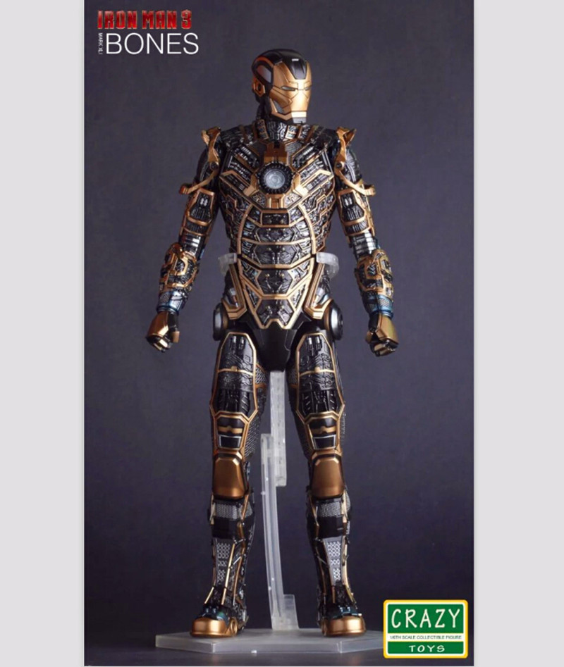 12 30CM Crazy Toys Superhero Movie Iron Man 3 Mark XLI MK41 Bones 1/6 Scale PVC Action Figure Collectible Toy RETAIL BOX movie crazy toys suicide squad joker 12 1 6 scale doll movie pvc action figure resin collection model toy gifts cosplay