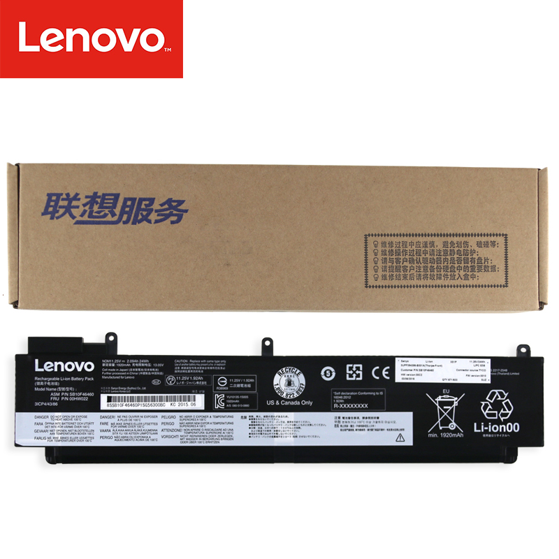 11.25V 2.09Ah 24Wh Original 00HW022 00HW023 SB10F46460 Laptop Battery For Lenovo ThinkPad T460S Series 00HW025