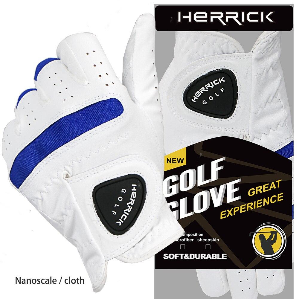 herrick golf glove men Left hand anti slip fabric soft cloth glove Permeability Strengthen wear resistanc 2018 new freeshipping цена