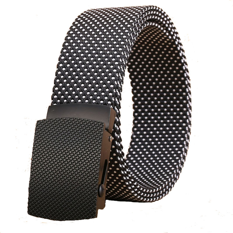 Good quality canvas luxury Knitted nylon   belt   Automatic Buckles   Belts   Army Tactics design for men Casualstyle male strap 6